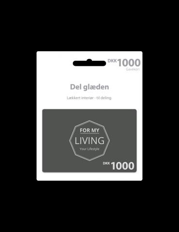 Gavekort på 1000 kroner