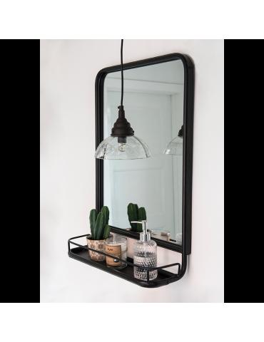 spejl til entre Wall mirror in metal with shelf spejl til entre