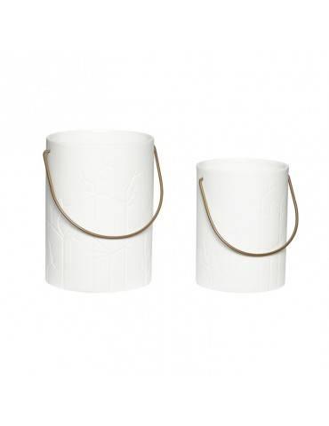 Hübsch Hvid lanterne i keramik