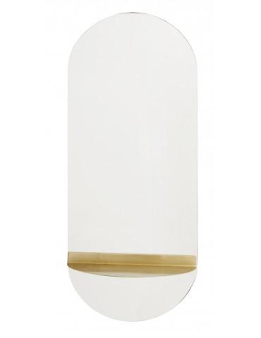 Nordal Spejl med gylden hylde