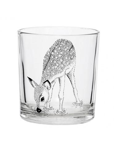 Bllomingville glas med rådyr