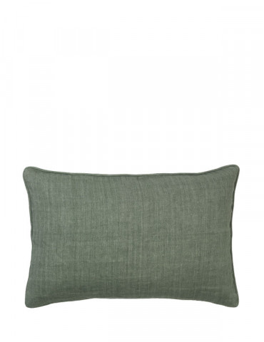 Cozy living herringbone hør pude grøn