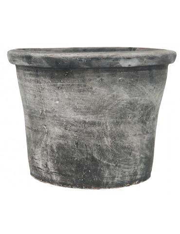 Ib Laursen potte med kant håndlavet