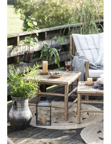 Ib Laursen sidebord bambus sæt med 2 med lys