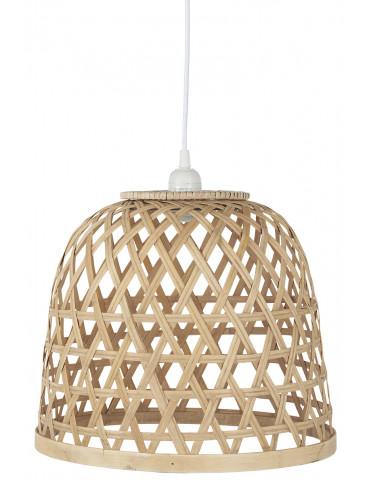 Ib Laursen bambus skærm med hvid ledning