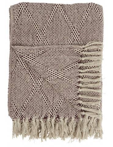 Ib Laursen bordeaux plaid med harlekin mønster