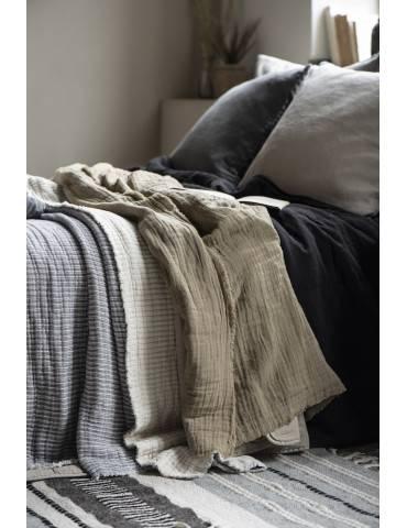 Ib Laursen sengetæppe dobbeltribbet med flere tæpper
