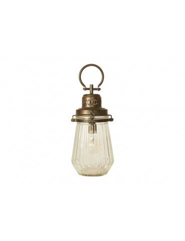 Speedtsberg lanterne med hank og pære glat glas