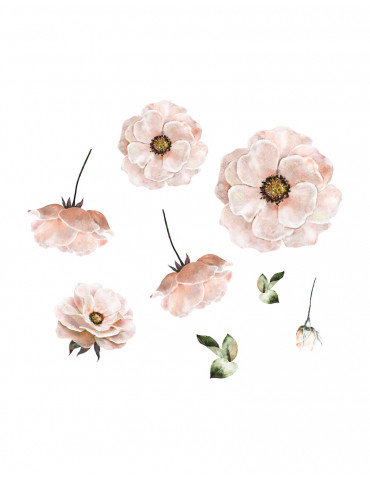 Thats mine wallsticker poppy flower rosa