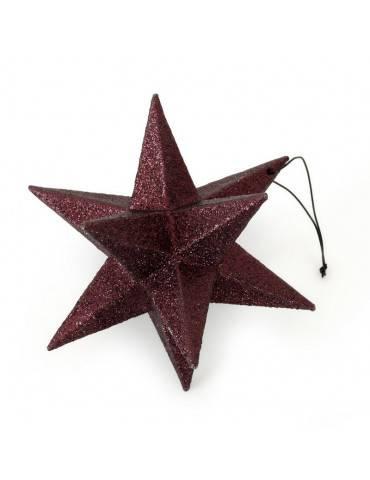 Nordstjerne polygon stjerne bordeaux stor