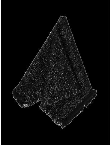Au Maison stofserviet i farven sort med glitter foldet sammen