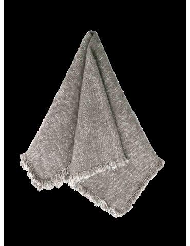 Fin Au Maison stofserviet i farven  grå med glitter