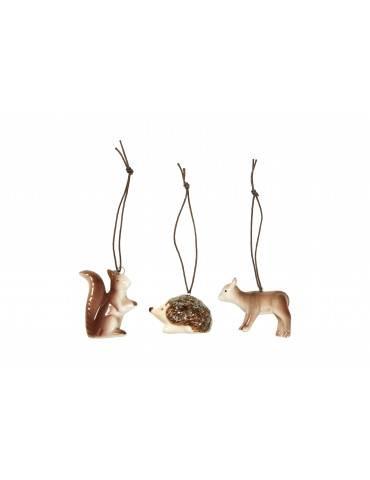 Speedtsberg ornamenter dyr 3 assorteret
