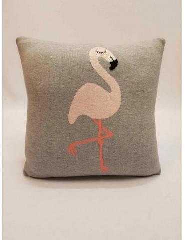 Strøk børnepude med flamingo