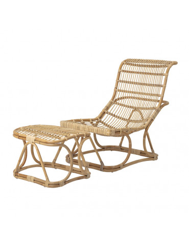 Bloomingville Eloise lounge stol med fodskammel