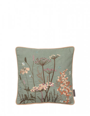 Cozy Living maja broderet mini pude seagrass