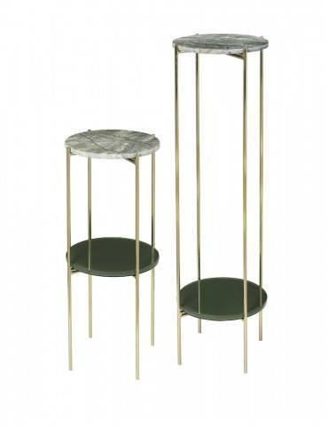 Cozy Living Pedestal green sæt med 2
