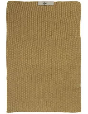 Ib Laursen myntehåndklæde mustard strikket