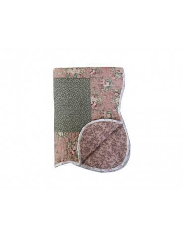 Chic Antique quilt med blomsterprint