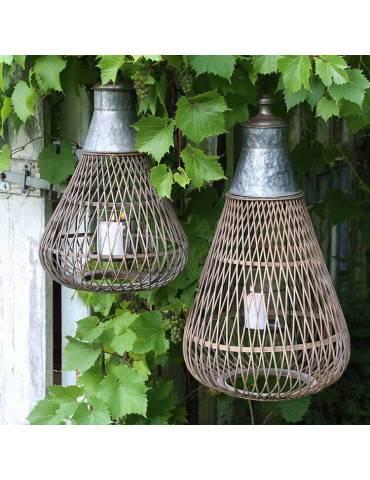 Chic Antique fransk lanterne med zinktop miljø