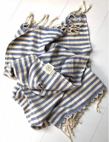 Boho Beach Santorini gæstehåndklæde blå