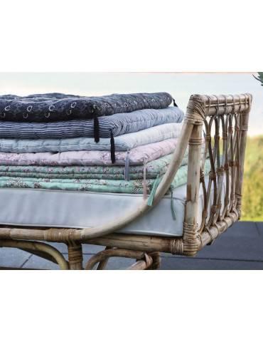 Chic antique madras med lysegrå striber miljø