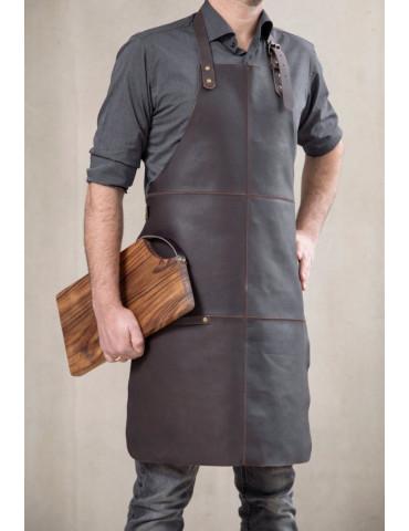 Stuff Design forklæde brun patchwork