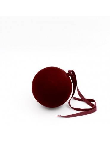 Nordstjerne Julekugle velvety tone red large