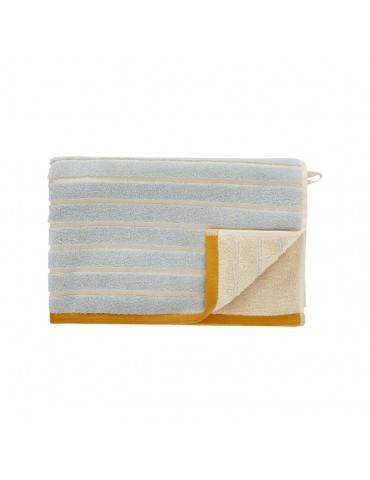 Hübsch Håndklæde sand/blå/orange stor