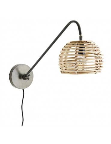 Madam Stoltz Væglampe med bambusskærm