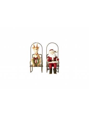 Speedtsberg Julemand og rensdyr til ophæng