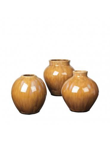 Broste Copenhagen Ingrid vase sæt af 3 Apple Cinnamon