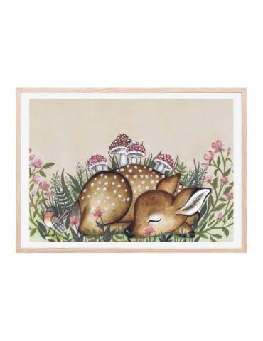 Thats Mine Plakat Flower field deer