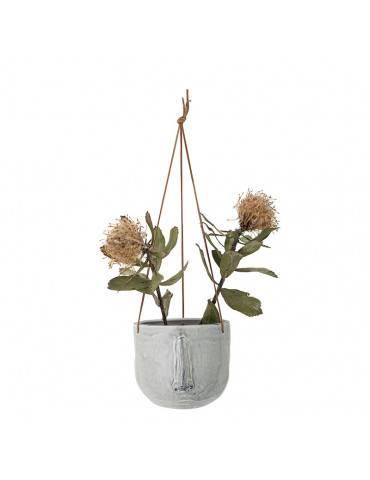 Bloomingville Hængende urtepotteskjuler med ansigt med blomster