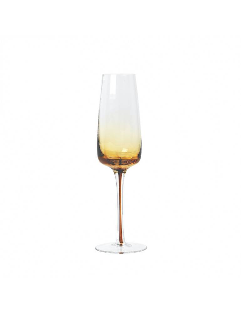 Broste Copenhagen Champagneglas Amber