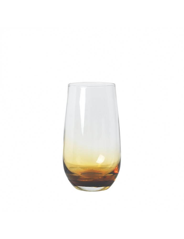 Broste Copenhagen Drikkeglas amber højt
