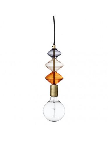 Bloomingville Pendel multifarvet glas