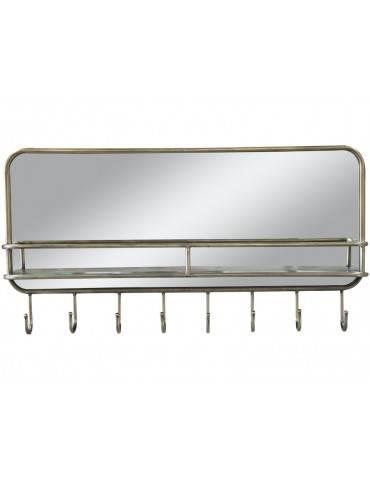 Chic Antique Spejl med hylde og 8 knager