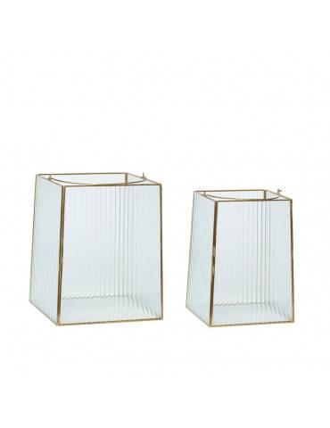 Hübsch Lanterner glas sæt med 2