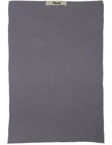 Ib Laursen Mynte håndklæde strikket mørkegrå