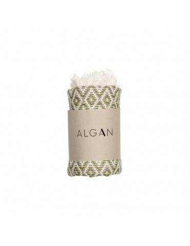 Algan Sumak gæstehåndklæde Oliven