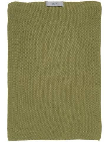 Ib Laursen Mynte håndklæde strikket Herbal Green
