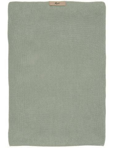 Ib Laursen Mynte håndklæde strikket støvgrøn