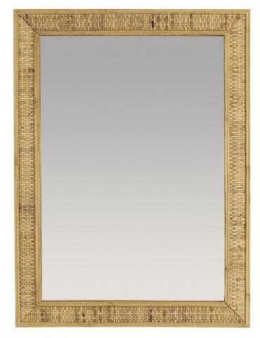 Ib Laursen Vægspejl med bambusflet