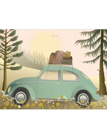 Vissevasse plakat VW Bettle 15x20