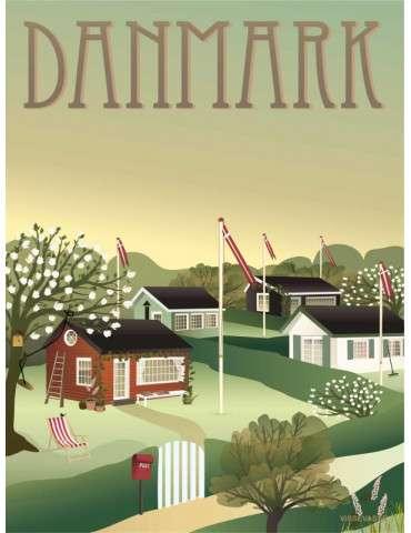 Vissevasse plakat Danmark - Kolonihaverne 15x20
