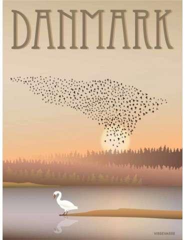 Vissevasse plakat Danmark Sort sol 30x40