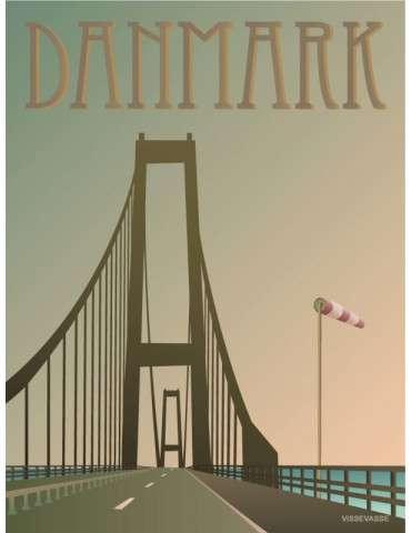 Vissevasse plakat Danmark - Storebæltsbroen 15x20