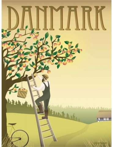 Vissevasse plakat Danmark - Æbletræet 30x40