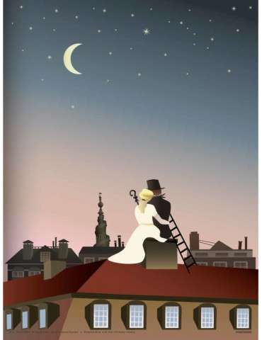 Vissevasse plakat The shepherdness and the chimney sweep 15x21